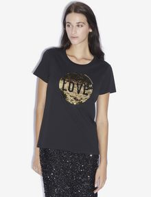 ARMANI EXCHANGE LOVE T-SHIRT MIT WENDEPAILLETTEN T-Shirt mit Grafik [*** pickupInStoreShipping_info ***] f