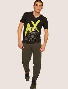 ARMANI EXCHANGE REGULAR-FIT REBEL METALLIC V-NECK Graphic T-shirt Man d