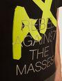 ARMANI EXCHANGE REGULAR-FIT REBEL METALLIC V-NECK Graphic T-shirt Man b
