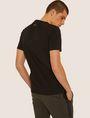 ARMANI EXCHANGE REGULAR-FIT REBEL METALLIC V-NECK Graphic T-shirt Man e