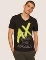 ARMANI EXCHANGE REGULAR-FIT REBEL METALLIC V-NECK Graphic T-shirt Man f