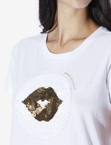 ARMANI EXCHANGE TWO-WAY SEQUIN LOVE TEE Graphic T-shirt [*** pickupInStoreShipping_info ***] b