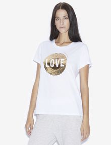 ARMANI EXCHANGE TWO-WAY SEQUIN LOVE TEE Graphic T-shirt [*** pickupInStoreShipping_info ***] f