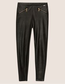 ARMANI EXCHANGE ZIP DETAIL FAUX-LEATHER LEGGING Trouser [*** pickupInStoreShipping_info ***] r