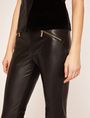 ARMANI EXCHANGE ZIP DETAIL FAUX-LEATHER LEGGING Trouser [*** pickupInStoreShipping_info ***] b
