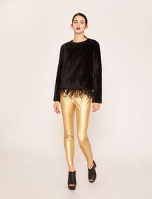 ARMANI EXCHANGE ZIP DETAIL FAUX-LEATHER LEGGING Trouser Woman d