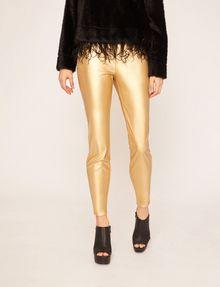 ARMANI EXCHANGE ZIP DETAIL FAUX-LEATHER LEGGING Trouser Woman f