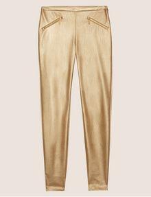 ARMANI EXCHANGE ZIP DETAIL FAUX-LEATHER LEGGING Trouser Woman r