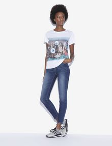 ARMANI EXCHANGE WOMEN'S STREET ART BY LUCAS LEVITAN CREWNECK TEE Graphic T-shirt Woman d