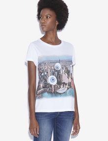 ARMANI EXCHANGE WOMEN'S STREET ART BY LUCAS LEVITAN CREWNECK TEE Graphic T-shirt Woman f