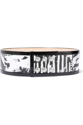 BALMAIN Printed leather belt
