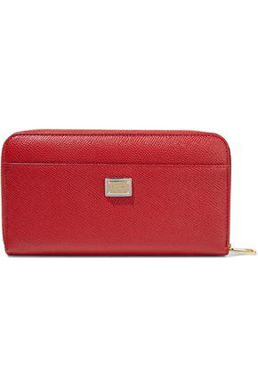 DOLCE & GABBANA Appliquéd textured-leather wallet