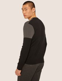 ARMANI EXCHANGE COLORBLOCKED COTTON CREWNECK SWEATER Crew Neck Man e