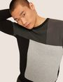ARMANI EXCHANGE COLORBLOCKED COTTON CREWNECK SWEATER Crew Neck Man a