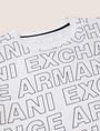 ARMANI EXCHANGE BOYS LOOSE-FIT ALLOVER LOGO CREW Logo T-shirt [*** pickupInStoreShippingNotGuaranteed_info ***] e