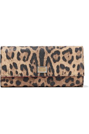 169f07962a Dolce & Gabbana Leopard-Print Textured-Leather Continental Wallet