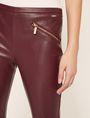 ARMANI EXCHANGE ZIP DETAIL FAUX-LEATHER LEGGING Pant Woman b