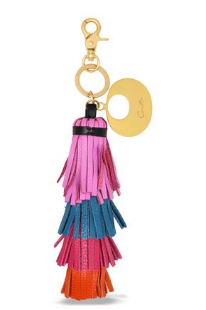CAMILLA Tasseled color-block keychain