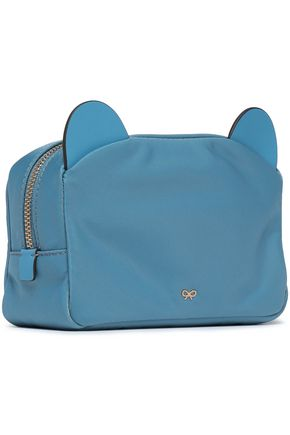 ANYA HINDMARCH Leather-trimmed shell cosmetics case
