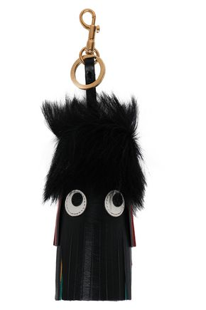 ANYA HINDMARCH Embellished fringed leather keychain