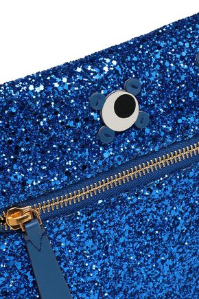 ANYA HINDMARCH Appliquéd glittered PVC clutch