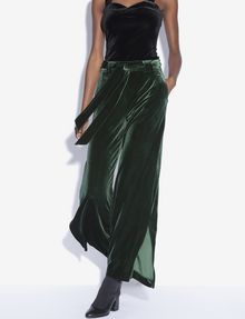 ARMANI EXCHANGE BELTED VELVET WIDE-LEG PANT Culotte [*** pickupInStoreShipping_info ***] a