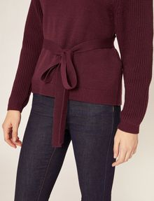ARMANI EXCHANGE TIE-WAIST WOOLEN SWEATER Pullover Woman b
