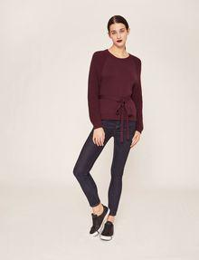 ARMANI EXCHANGE TIE-WAIST WOOLEN SWEATER Pullover Woman d