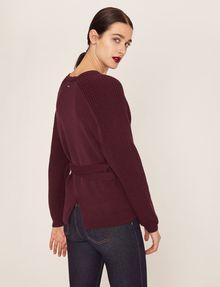 ARMANI EXCHANGE TIE-WAIST WOOLEN SWEATER Pullover Woman e