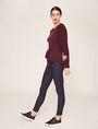 ARMANI EXCHANGE TIE-WAIST WOOLEN SWEATER Pullover Woman a