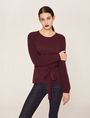 ARMANI EXCHANGE TIE-WAIST WOOLEN SWEATER Pullover Woman f