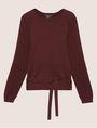 ARMANI EXCHANGE TIE-WAIST WOOLEN SWEATER Pullover Woman r
