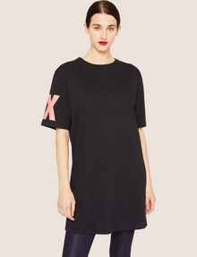 ARMANI EXCHANGE LONGLINE LOGO ARM MAXI TEE Solid T-shirt [*** pickupInStoreShipping_info ***] f