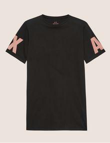 ARMANI EXCHANGE LONGLINE LOGO ARM MAXI TEE Solid T-shirt [*** pickupInStoreShipping_info ***] r