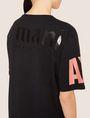 ARMANI EXCHANGE LONGLINE LOGO ARM MAXI TEE Solid T-shirt [*** pickupInStoreShipping_info ***] b