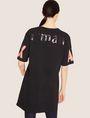 ARMANI EXCHANGE LONGLINE LOGO ARM MAXI TEE Solid T-shirt [*** pickupInStoreShipping_info ***] e