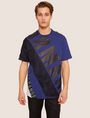 ARMANI EXCHANGE LOOSE-FIT MESH COLORBLOCK CREW Logo T-shirt [*** pickupInStoreShippingNotGuaranteed_info ***] f