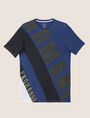 ARMANI EXCHANGE LOOSE-FIT MESH COLORBLOCK CREW Logo T-shirt [*** pickupInStoreShippingNotGuaranteed_info ***] r