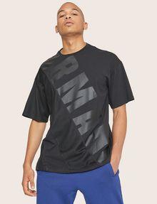 ARMANI EXCHANGE LOOSE-FIT MESH COLORBLOCK CREW Logo T-shirt Man a