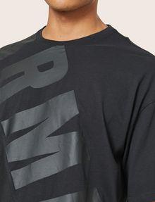 ARMANI EXCHANGE LOOSE-FIT MESH COLORBLOCK CREW Logo T-shirt Man b