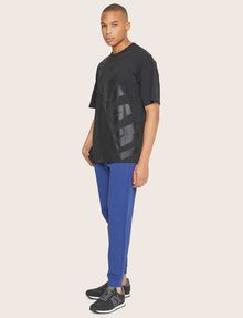 ARMANI EXCHANGE LOOSE-FIT MESH COLORBLOCK CREW Logo T-shirt Man d
