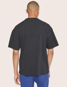 ARMANI EXCHANGE LOOSE-FIT MESH COLORBLOCK CREW Logo T-shirt Man e