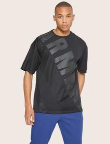 ARMANI EXCHANGE LOOSE-FIT MESH COLORBLOCK CREW Logo T-shirt Man f