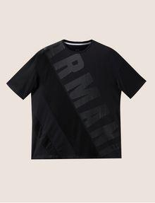 ARMANI EXCHANGE LOOSE-FIT MESH COLORBLOCK CREW Logo T-shirt Man r