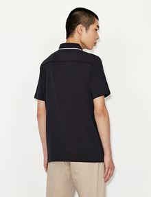 ARMANI EXCHANGE CLASSIC CIRCLE LOGO BICOLOR POLO SHORT SLEEVES POLO [*** pickupInStoreShippingNotGuaranteed_info ***] e