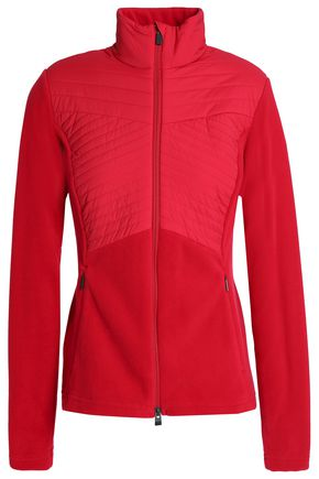 KJUS Quilted shell-paneled fleece jacket