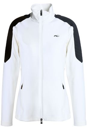 KJUS Two-tone tech-jersey turtleneck jacket