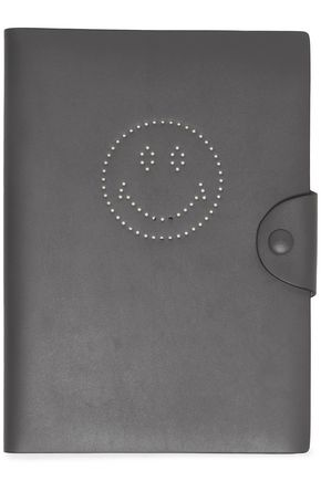 ANYA HINDMARCH Perforated leather journal
