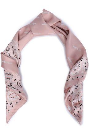 RAG & BONE Printed silk-twill scarf