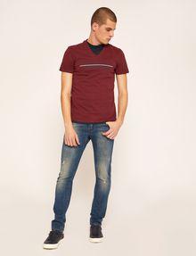 ARMANI EXCHANGE SLIM-FIT REVERSE REFLECT LOGO V-NECK Logo T-shirt Man d